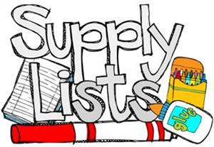 Click Here for School Supply Lists