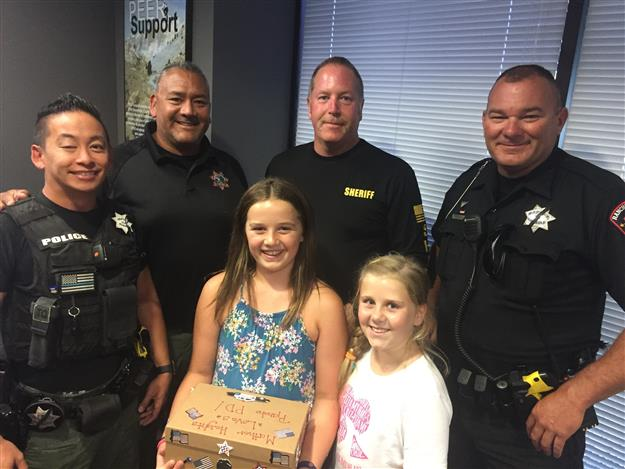 MATHER HEIGHTS STUDENTS SHOW THEIR APPRECIATION FOR OUR LOCAL LAW ENFORCEMENT
