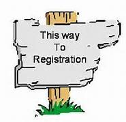 registration sign