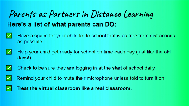 Distance Learning Do's & Don'ts