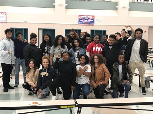 Black Student Union club members from throughout FCUSD schools.