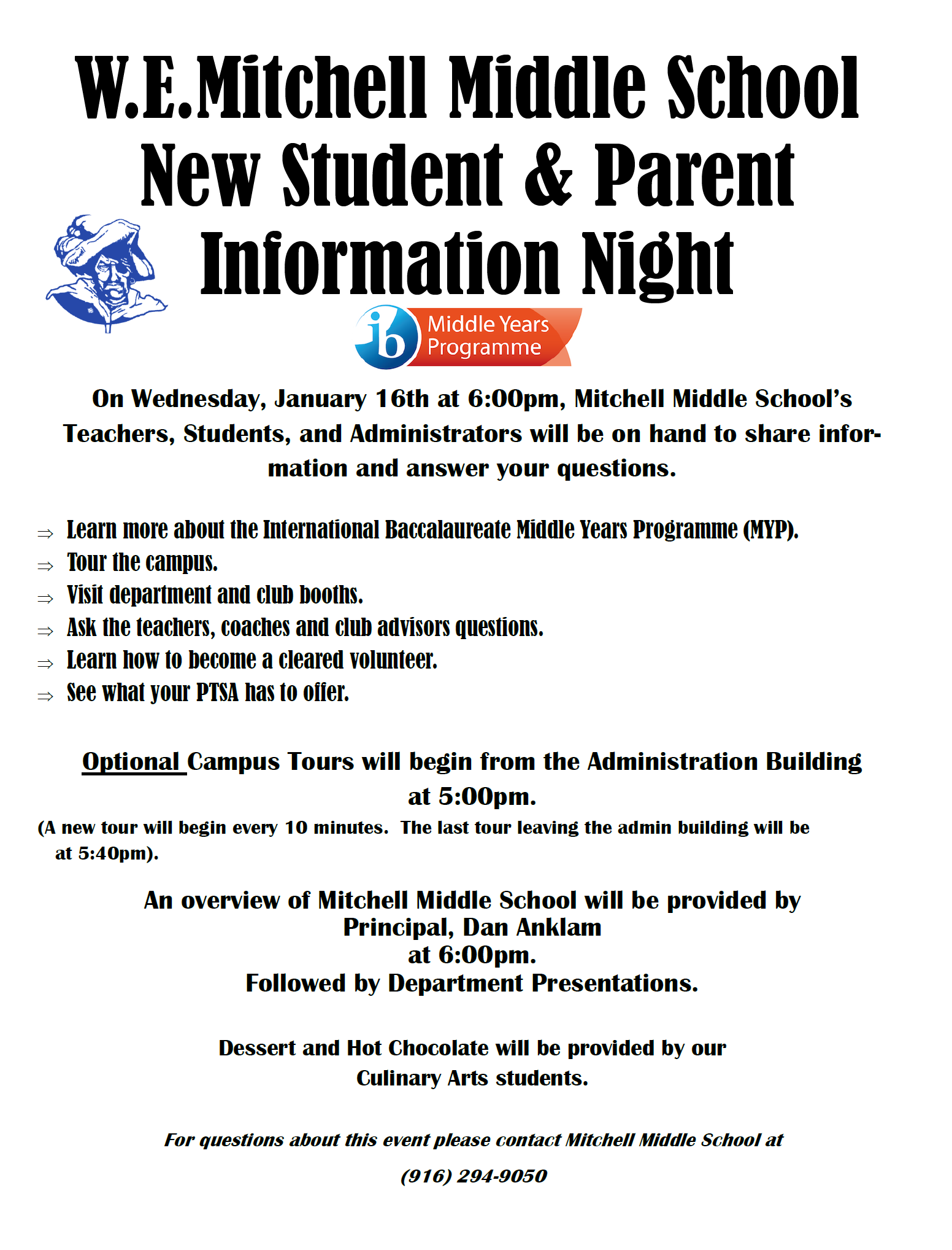 NEW TO MITCHELL INFORMATION NIGHT