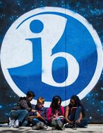 IB Mural with students photo