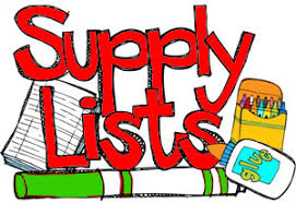 Supply List for 2018-2019