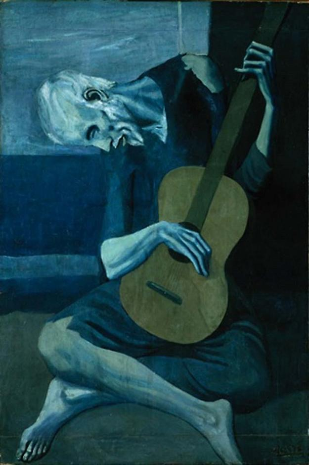 Pablo Picasso, The Old Guitarist. 1903-1904.