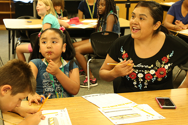 Families learn together at Family Engagement Summer Academy