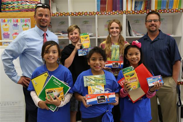 Folsom Middle student council donates school supplies to White Rock Elementary