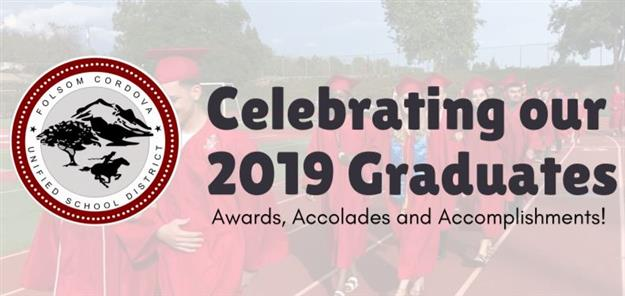 2019 high school graduates with text saying Congratulations Graduates!