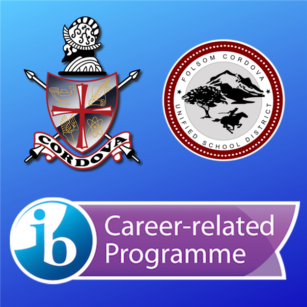 Graphic of IB Career Program and Cordova High logo