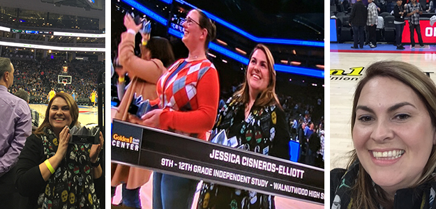Folsom Cordova Teacher of the Year honored at Kings game