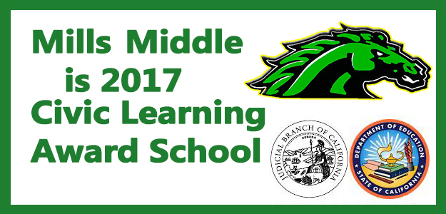 Mills Middle is 2017 Civic Learning Award School