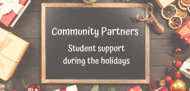 Graphic: Community partners support for students during holidays