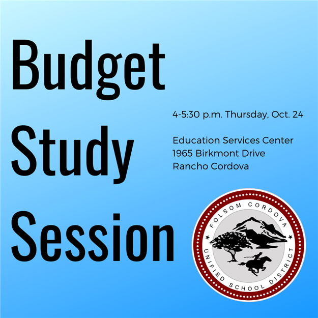 Budget Study Session 4 to 5:30 p.m. Thursday Oct. 24