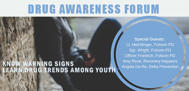 Join us for the Drug awareness forums: learn warning signs and trends
