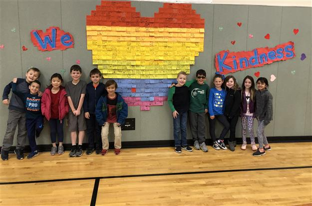 Sandra J. Gallardo Elementary students share kindness messages