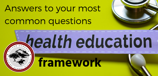 Graphic announcing Answers to your most frequent questions of Health Education