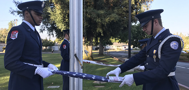 VIDEO: Cordova High remembers 9/11 victims with flag tribute