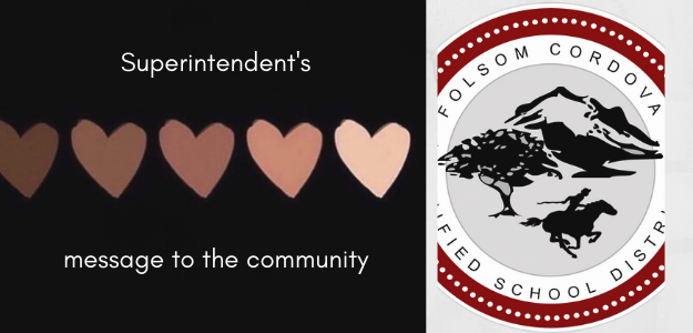 Superintendent's message to community graphic