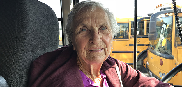 VIDEO: Beloved School Bus Driver Ms. Betty has been busing students to school for over four decades