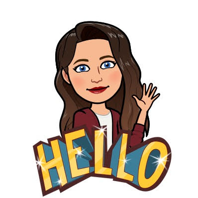 Bitmoji Woman with Brown Hair and Blue Eyes