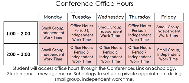Conference Office Hours