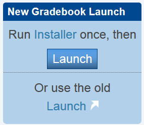 New Grade Book Launch Icon