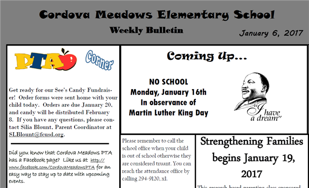 Cordova Meadows Elem Newsletter