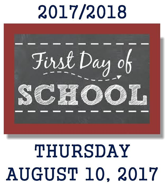 2017 2018 First Day of School